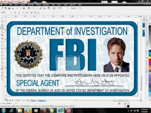 FBI ID card tutorial in corel drawX5wmv - YouTube