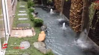 Tường thác nước nhà anh Bằng - Quận Gò Vấp