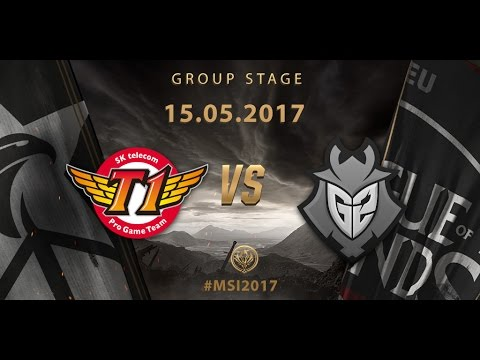 [15.05.2017] SKT vs G2 [MSI 2017][Group Stage]