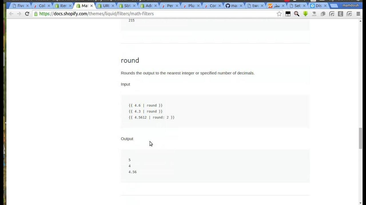 Liquid Template Math Filter Arabic Youtube