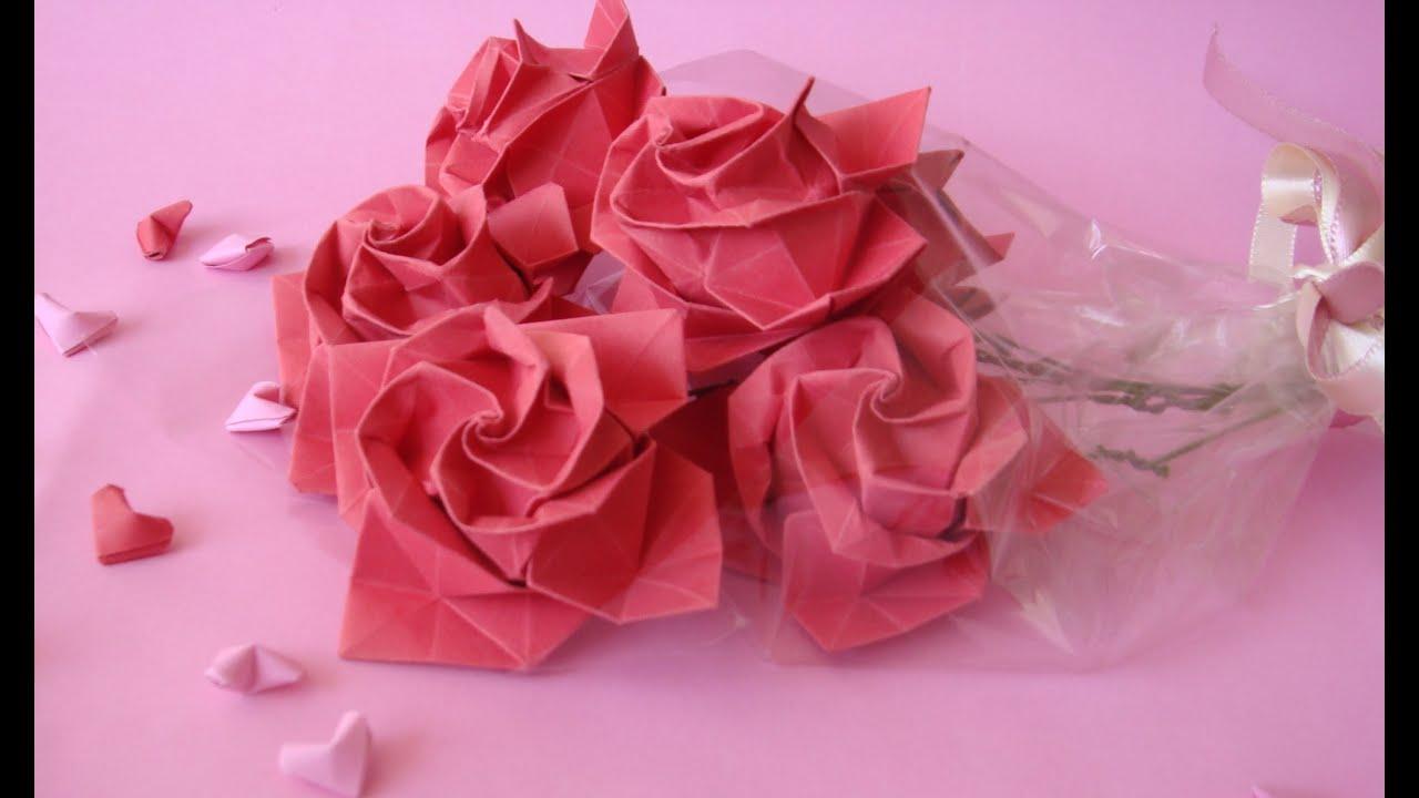 Origami Tutorial : Rose / Rosa - YouTube - photo#49