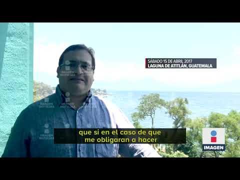 Javier Duarte graba video momentos antes de su detención | Noticias con Ciro Gómez Leyva