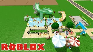 Building the largest Slider ever | Wate rPark World #2 | Roblox Indonesia