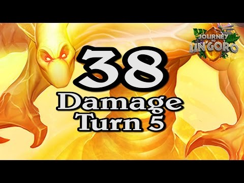 🍀🎲 38 Damage Turn 5 Lethal ~ Journey to Un'Goro ~ Hearthstone Heroes of Warcraft