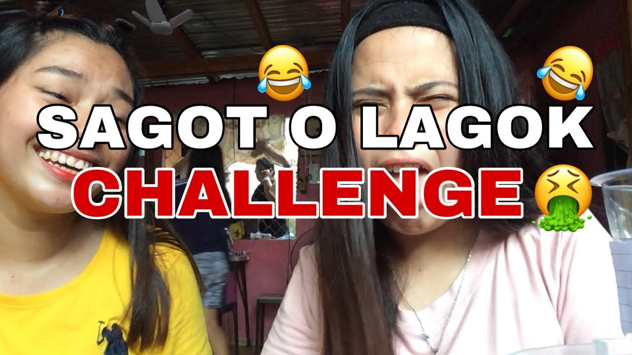 SAGOT O LAGOK CHALLENGE WITH MY COUSIN (MAY SUMUKA)
