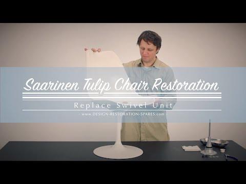 Eero Saarinen Tulip Chair - Replace Swivel Shaft and Bushings