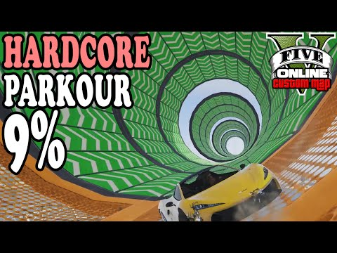 9% HARDCORE LEVEL ASIAN PARKOUR ★ GTA 5 Custom Maps ☆ GTA ONLINE | LPmitKev