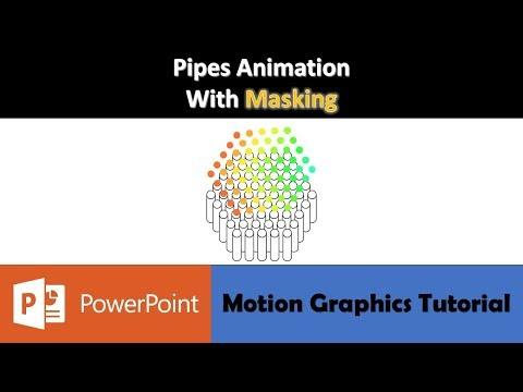 Pipes Animation with Masking | Motion Graphics in PowerPoint 2016 Tutorial thumbnail