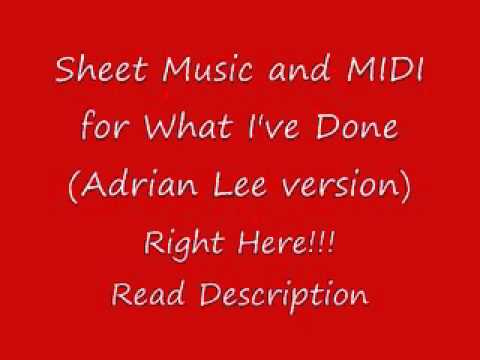 What Ive Done Adrian Lee version Sheets & MIDI