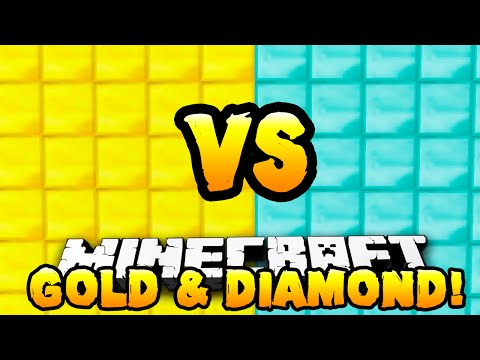 Minecraft - GOLD VS DIAMOND PARKOUR RACE! - w/ Preston & Kenny
