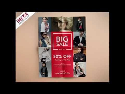 Making of Fashion Retail Sales Flyer | PSDFreebies.com