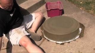 Diy Carved Concrete Birdbath