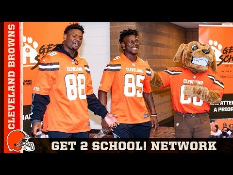 Browns Help Launch Get 2 School Network For Maple Heights Schools | Cleveland Browns