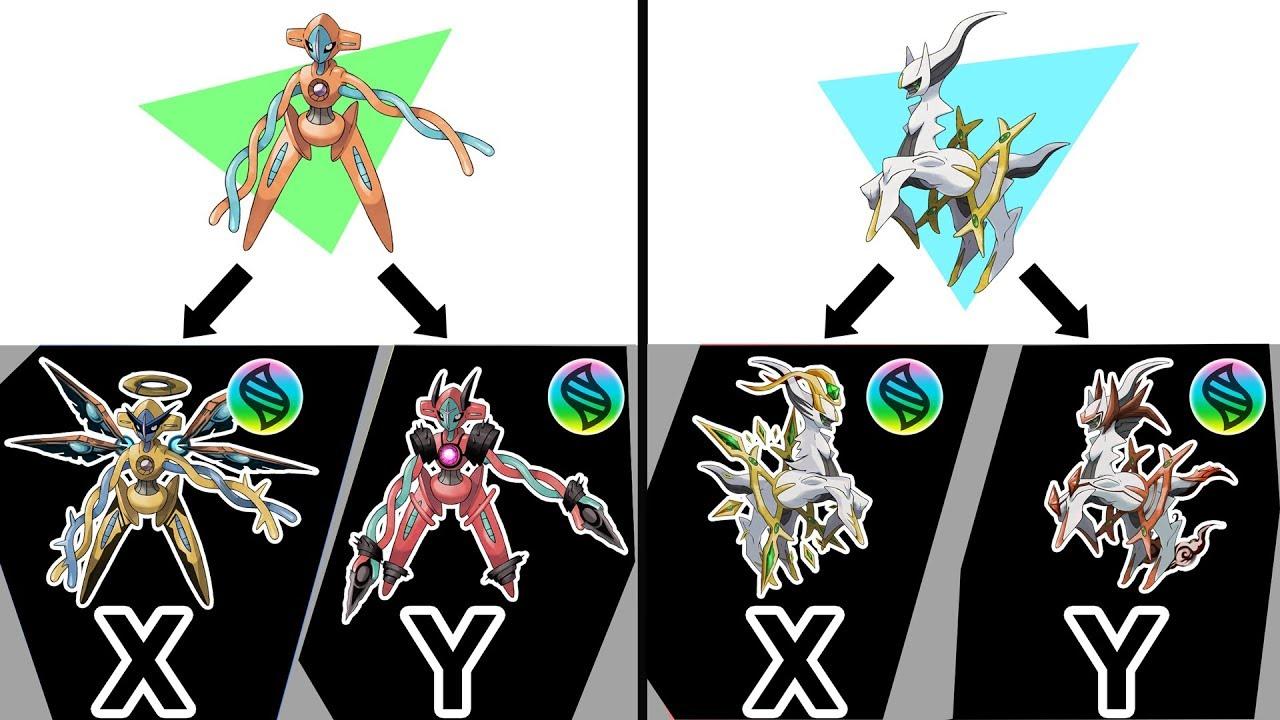 Mega Arceus X, Y ; Mega Deoxys X, Y - Future Pokemon Mega ...