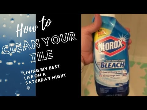 How to clean your shower tile | How I party on a Saturday Night
