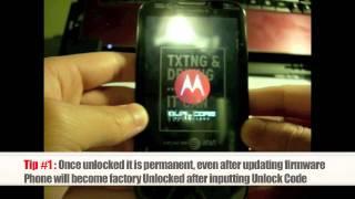 Unlock Motorola | How to Unlock any Motorola Phone by Subsidy Unlock Code Instructions + Tutorial