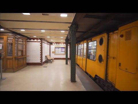 Hungary, Budapest, Metro ride from Opera to Vörösmarty utca