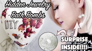 DIY: Hidden Jewelry Rose Bath Bombs !!!