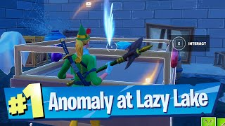 Investigate an Anomaly detected in Lazy Lake Location - Fortnite