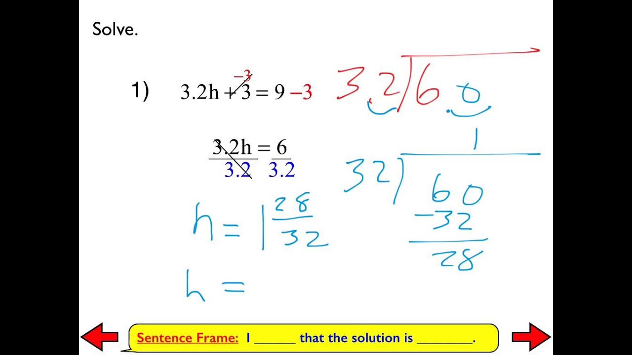 8b Solving Multi Step Equations With Rational Coefficients