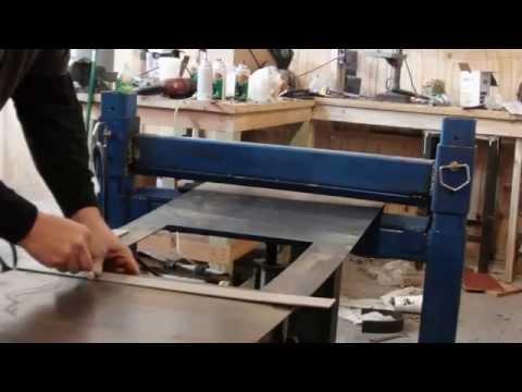 homemade press brake with reverse ram operation