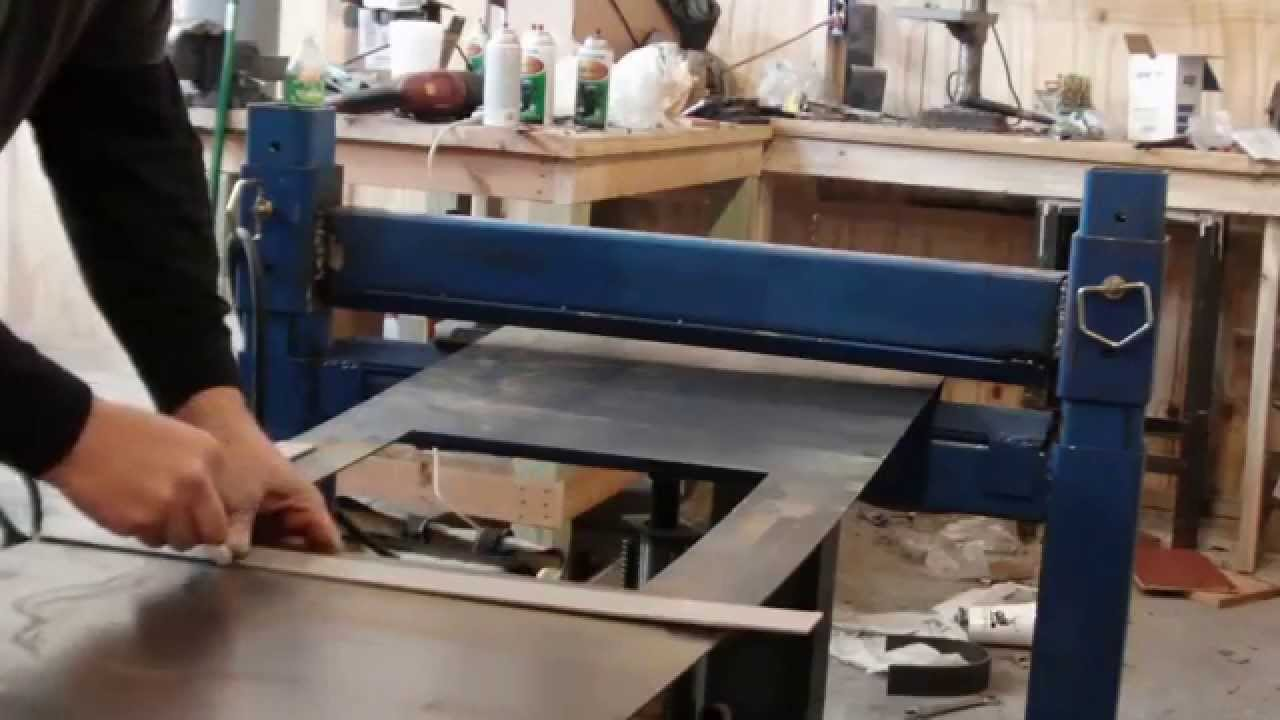Homemade Press Brake With Reverse Ram Operation Youtube