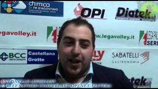 26-12-2013: Intervista ad Antonello Andriani nel post Materdominivolley.it - Matera 1-3