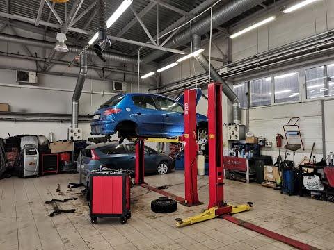Ремонт задней подвески на Peugeot 206. Ремонт торсионной балки.