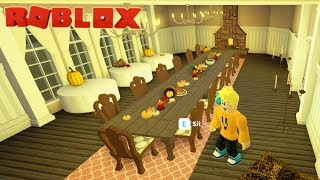 Thanksgiving Day Dining Room Build in Bloxburg Roblox
