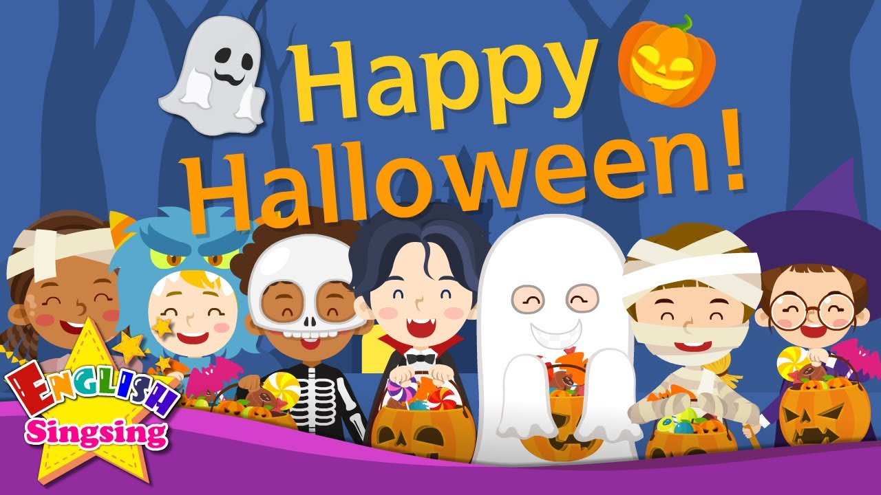 Kids vocabulary - Halloween Compilation   8 minutes  English educational video for kids