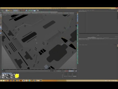 Cinema4D Tutorial: Sci Fi Surface, Hard Surface, Modeling, Booling