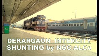 Dekargaon (Tezpur) - Kamakhya Intercity Express shunted by APU fitted NGC ALCo WDM3A at Kamakhya thumbnail