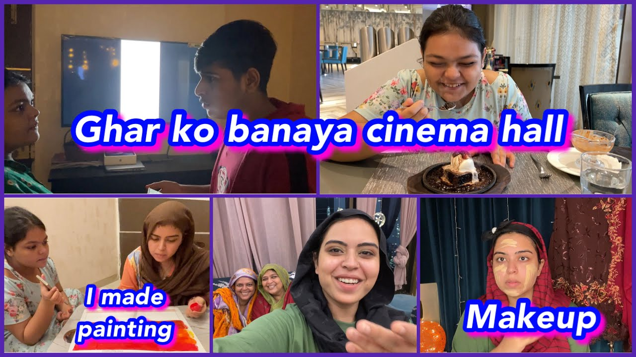 Download new TV aane ki ki khushi mein party 🎉 | Makeup 💄 & photoshoot | ibrahim family | vlog