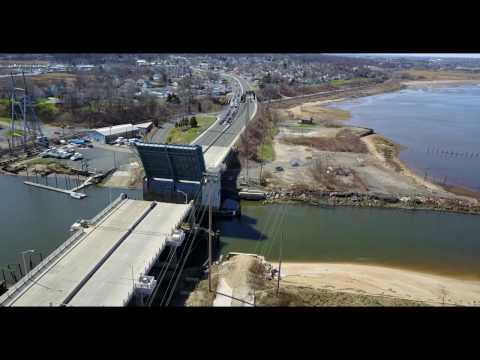 Open and Closing of the Cheesequake Creek Bridge at NJ-35, Laurence Harbor, NJ Mavic Pro