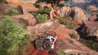Uncharted 4 - Driving a classic jeep (Ps4) [offroad]