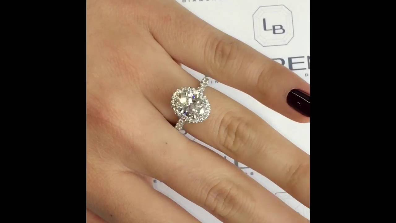 round watch carat halo in ring engagement rings diamond youtube cushion