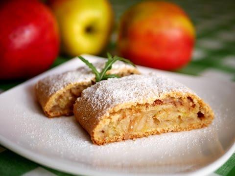 Яблочный пирог с хрустящими