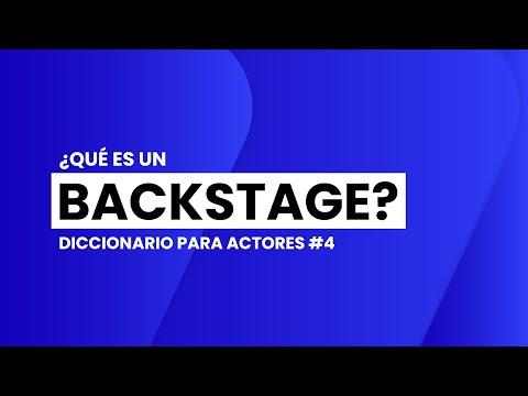¿Qué es un BACKSTAGE? | 📖🎬 DICCIONARIO para ACTORES #4