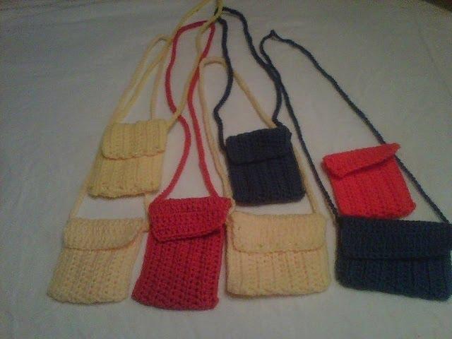 Crochet Cell Phone Casemini Purse I Pod Case Clipzui