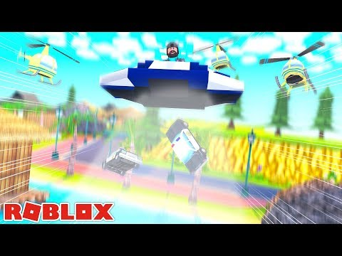 ALIEN UFO ABDUCTS THE COPS!! | ROBLOX JAILBREAK