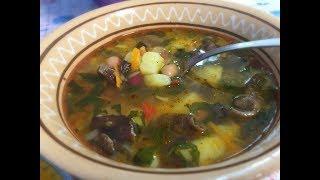 Суп с Грибами и Фасолью Вегетарианский Рецепт