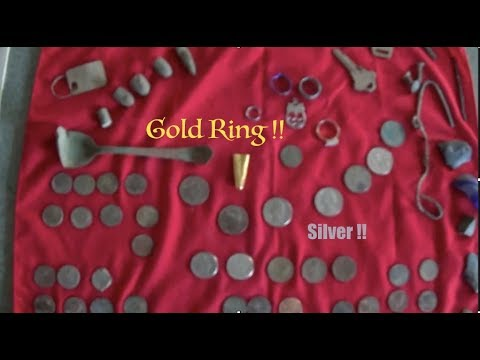 Gold Ring Found  Silver Metal Detecting Q4T  304 By