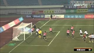 K리그 승강 플레이오프 1차전 강원FCVS상주상무 하이라이트