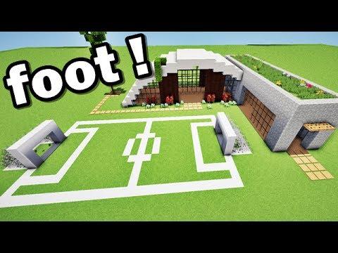 Maison de luxe et terrain de foot sur minecraft !! TUTO