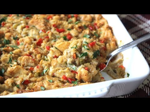 Simple Homemade Stuffing Recipe - For Sunday Dinner OR Thanksgiving - I Heart Recipes