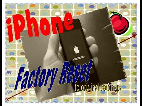 Iphone Reset To Factory Original Settings