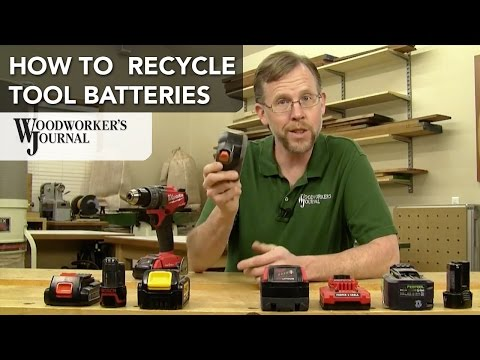 How to Recycle Rechargeable Tool Batteries
