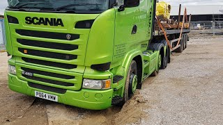 Manobrando o Scania