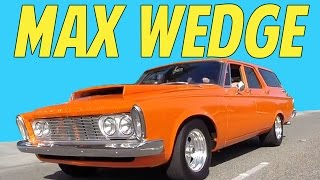 1963 Max Wedge Station Wagon Hot Rod Burnout Plymouth Not Hemi