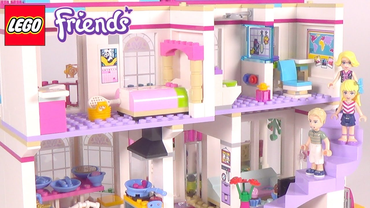 Lego Friends Stephanies House Playset 41314 Toy Unboxing Speed